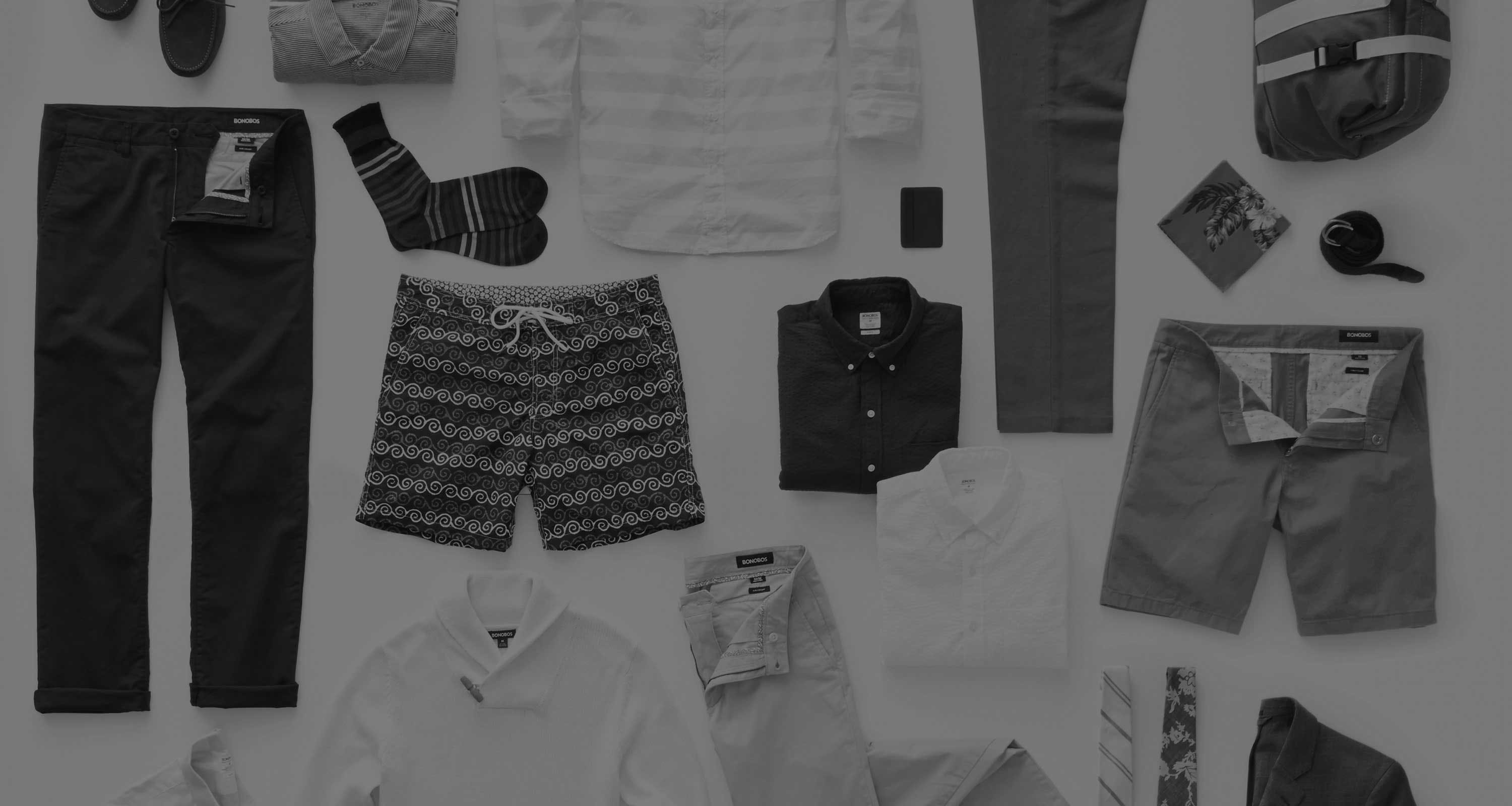 Assorted bonobos products