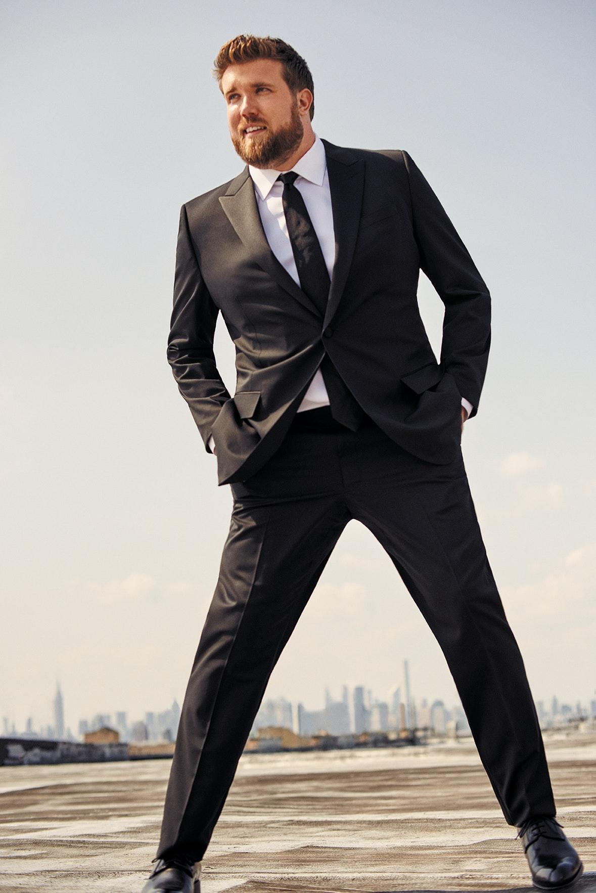 Man wearing Capstone Italian Wool Tuxedo