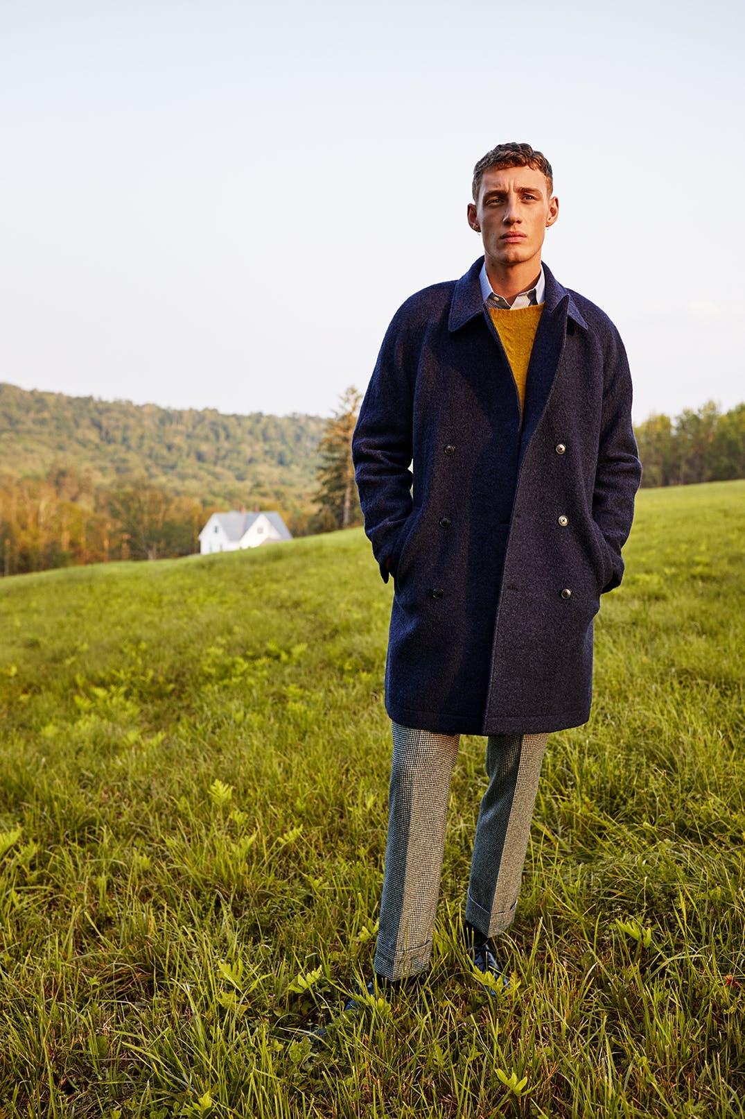 Man wearing The Italian Topcoat
