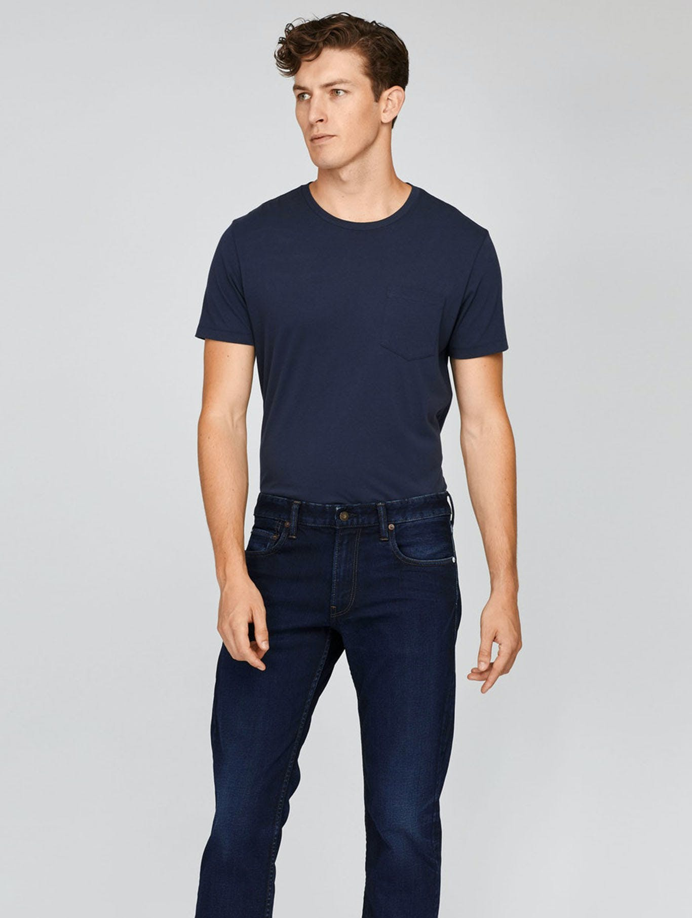 Image of man in jeans