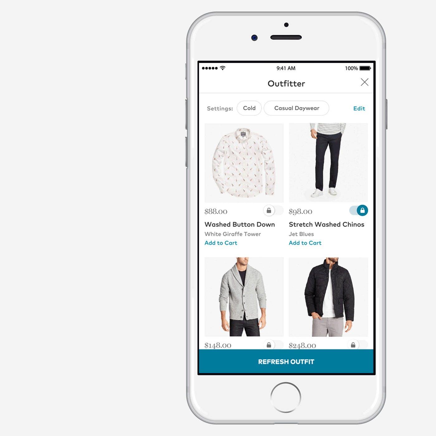 Men's Outfit Builder App