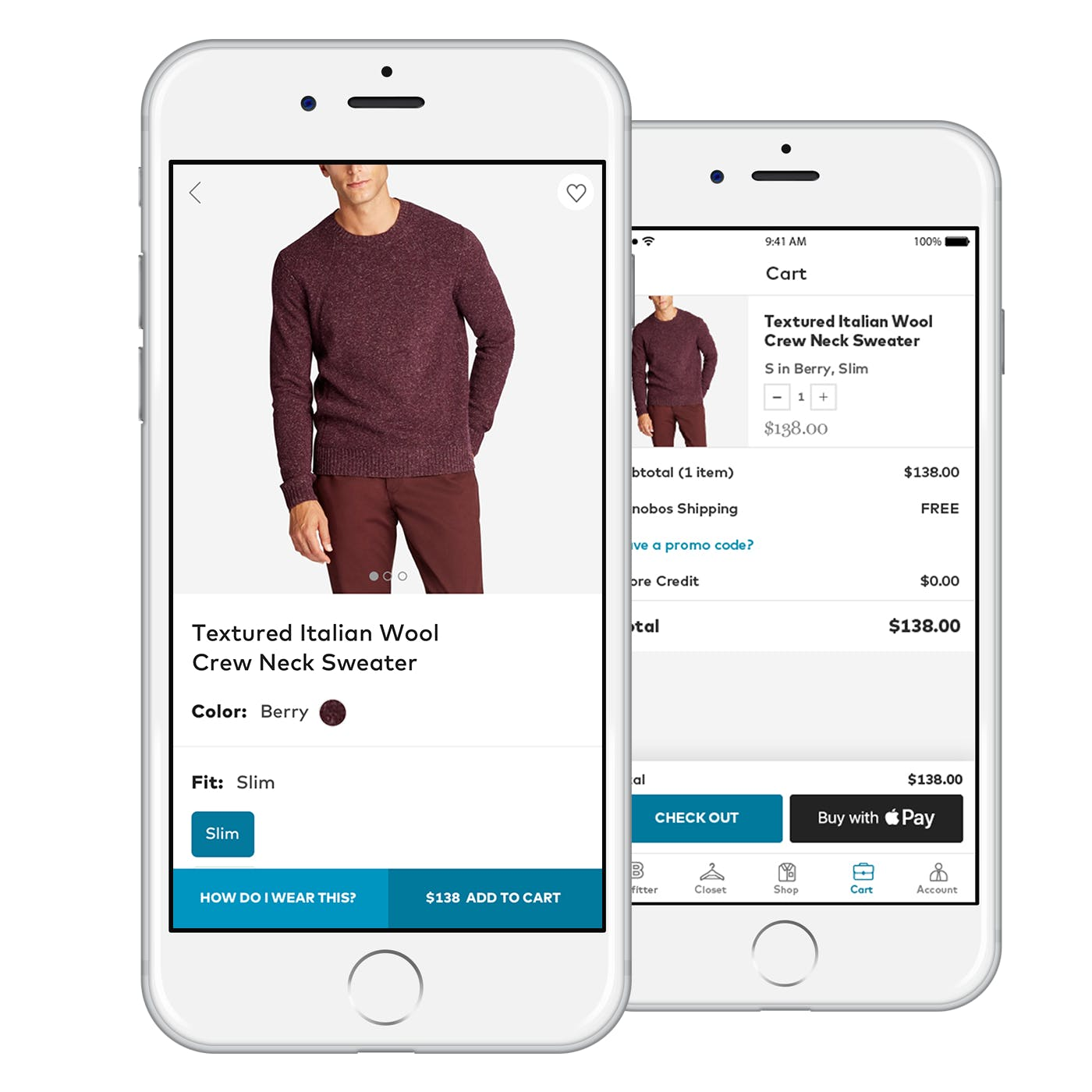 Menswear Shopping App