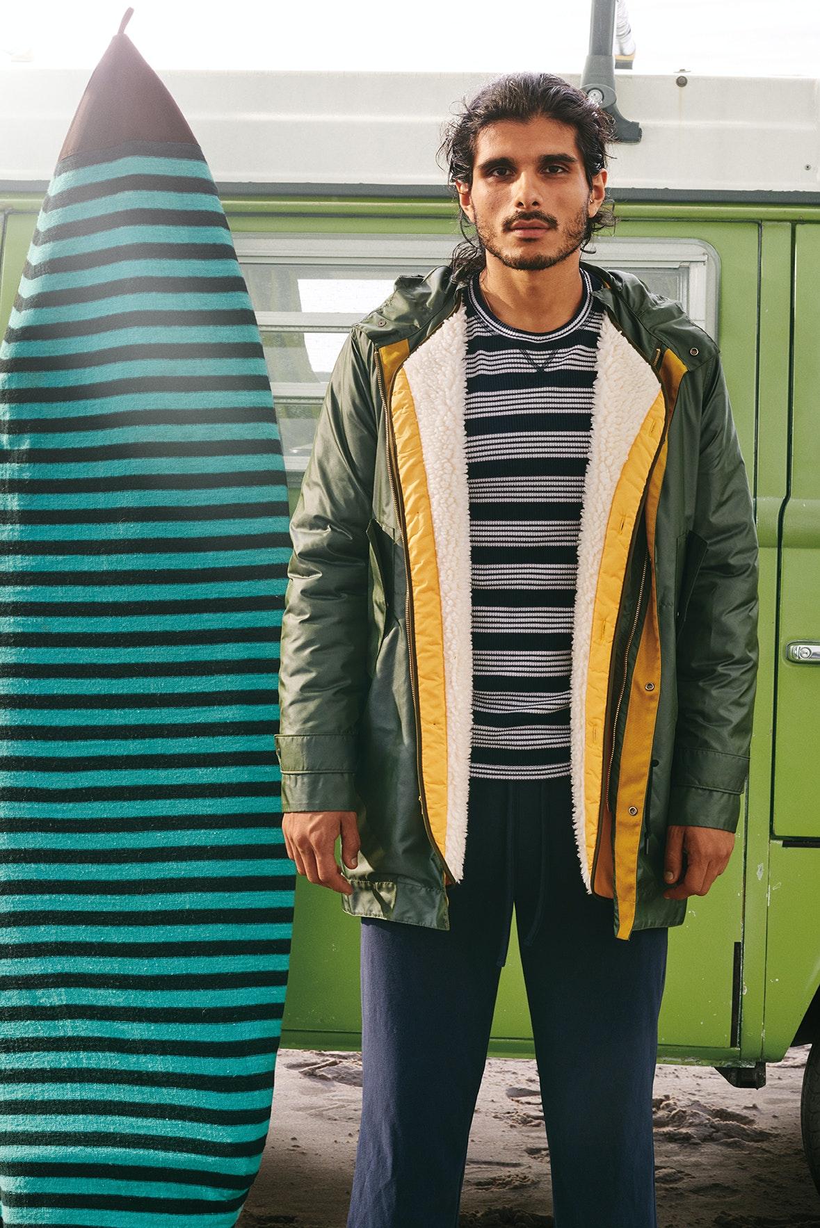 Man wearing The Fishtail Parka