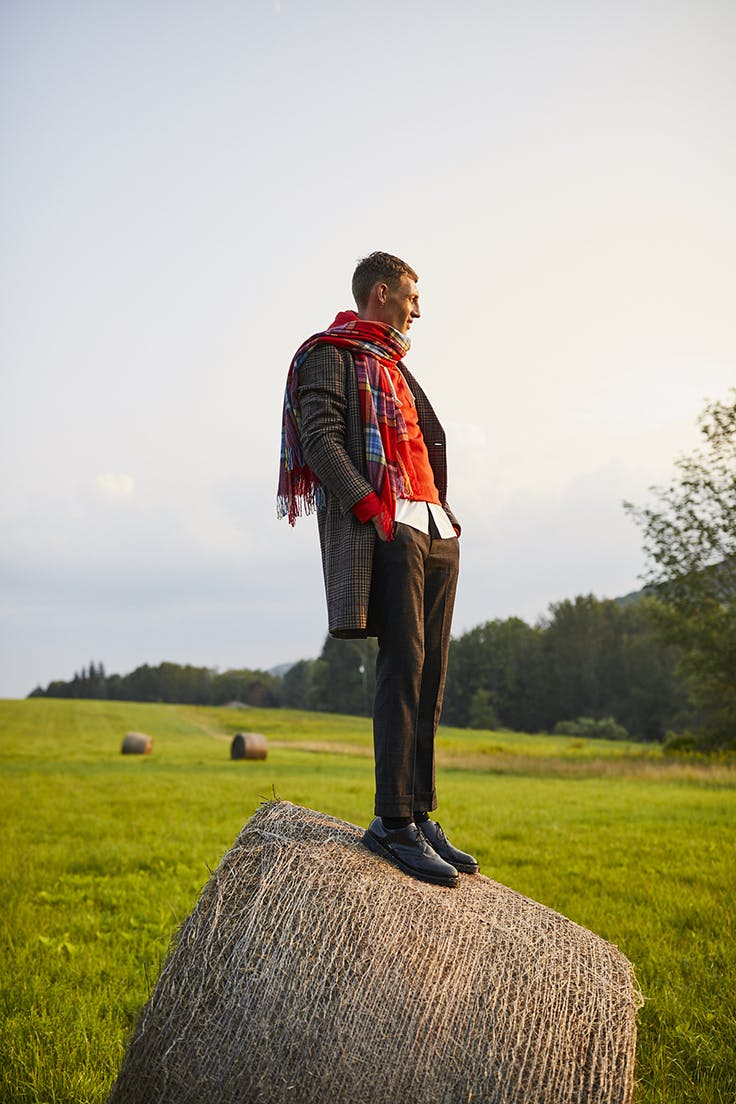 Man wearing The Italian Wool Car Coat